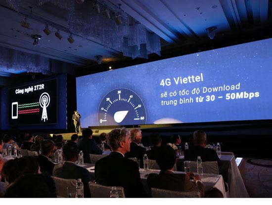 Tốc độ 4G thực tế của Viettel hiện nay đạt từ 30 - 50 Mbps.