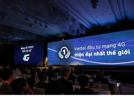 Tại lễ khai trương, Viettel khẳng định đã xây dựng mạng 4G hiện đại nhất thế giới.