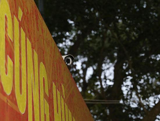 Hệ thống camera giám sát được triển khai tại đền Hùng
