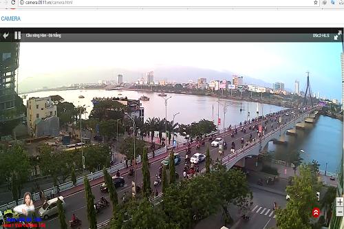 Người dùng cũng có thể xem DIFF 2017 qua camera được lắp đặt tại bờ Tây cầu sông Hàn.