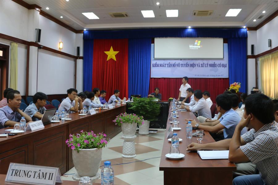 Cục Tần số Vô tuyến điện mới tổ chức hội thảo về xử lý can nhiễu có hại. Ảnh: Theo Cục TSVTĐ