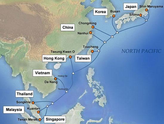 Theo các chuyên gia nhận định, việc tuyến cáp biển APG được đưa vào khai thác  từ cuối năm ngoái đóng vai trò quan trọng, giúp giảm thiểu ảnh hưởng cho kết nối Internet Việt Nam đi quốc tế khi AAG, Liên Á và SMW3 gặp sự cố như hiện nay (Ảnh minh họa. Nguồn: Internet)