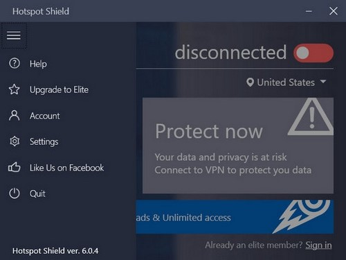 Phần mềm Hotspot Shield