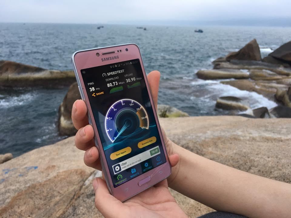 Tốc độ 4G của Viettel tại Mũi Đôi - Cực Đông của Tổ quốc cho tốc độ download từ 80 Mbps - 110 Mbps.