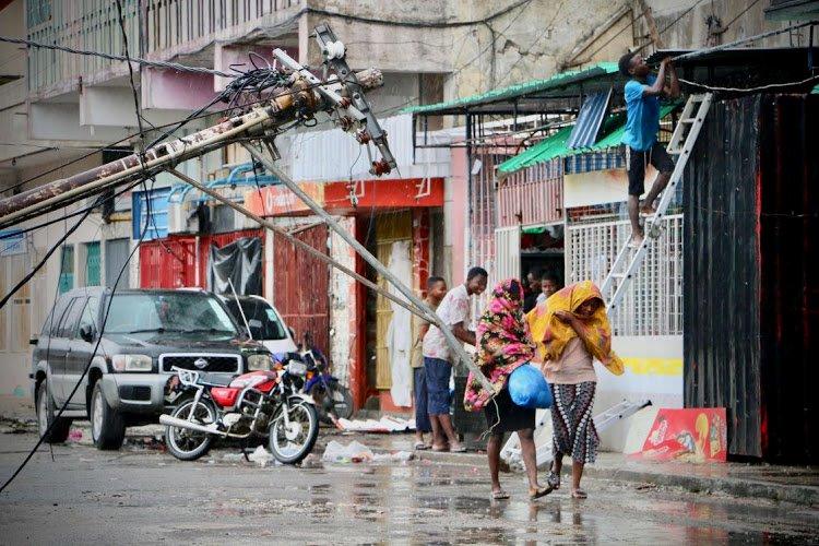 Cơn bão lớn Idai đã đổ bộ vào Mozambique gây ảnh hưởng đến mạng lưới của mạng Movitel mà Viettel đầu tư vào quốc gia châu Phi này. Nguồn: Internet